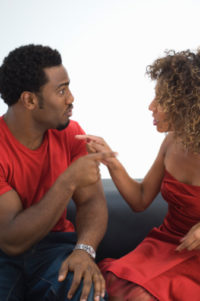 couple finger pointing - Fallen Out of Love? The Secret to Being in Love Again