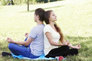couple meditating for new website 300x200 - Mindful Co-parenting During Marital Tensions - Five Ways to Ensure Success