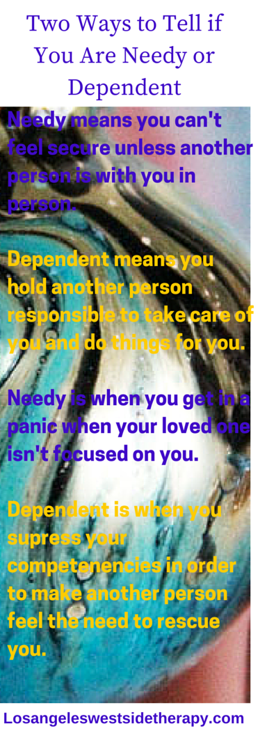 what does it mean to be needy in a relationship