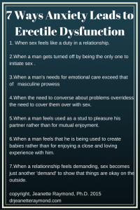 anxiety leads to ED - 7 Ways Anxiety Leads to Erectile Dysfunction